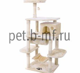 Домик когтеточка Комфорт-Средний+гамак бежевый для кошек купить 1