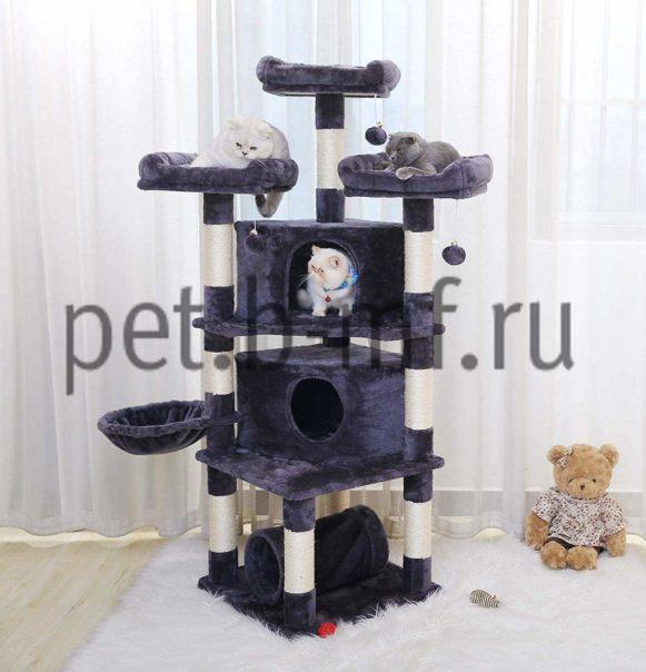 Игровой комплекс для кошек Москва - ультра клуб + два домика для нескольких кошек от производителя 1