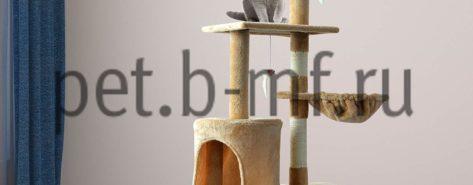 игрвой комплек домик для кошки с двумя лежаками 2